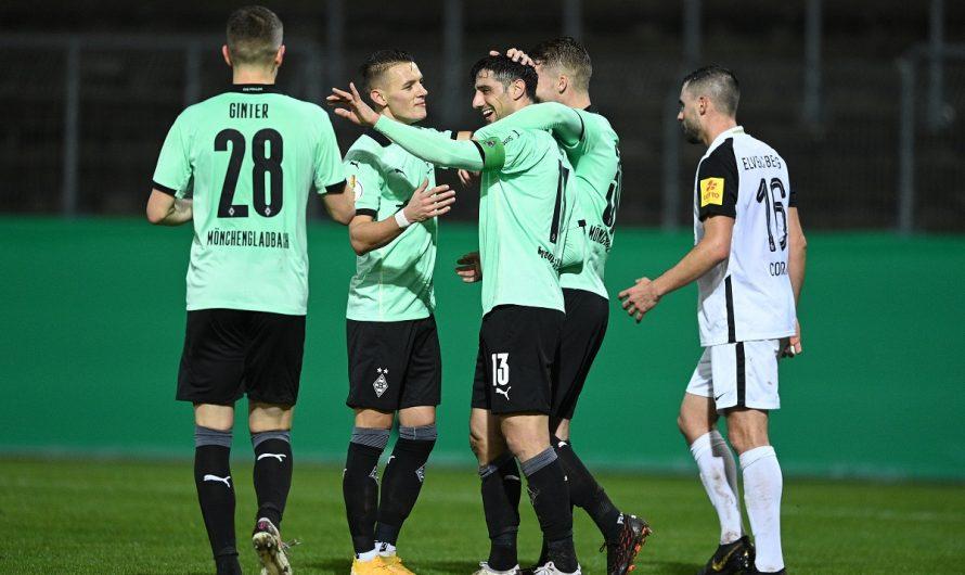 5:0! Borussia in Elversberg problemlos eine Runde weiter