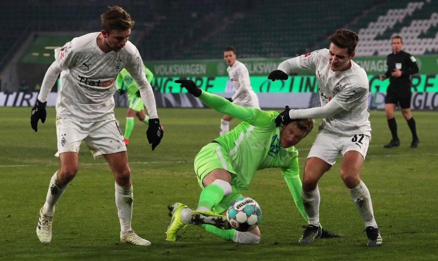 0:0! Keine Tore zwischen Wolfsburg und Gladbach