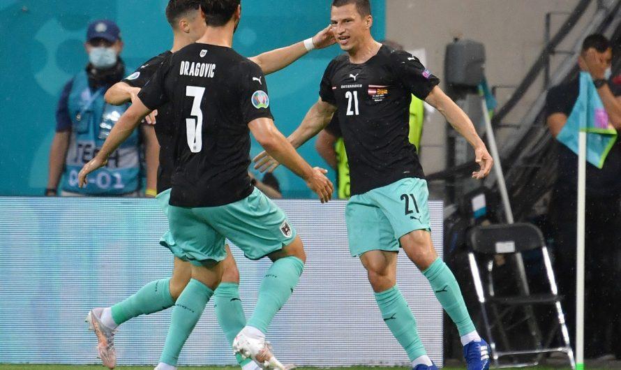 Stefan Lainer trifft für Österreich bei der EM