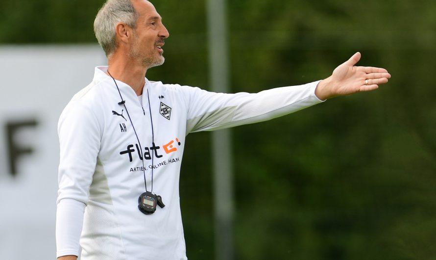 Adi Hütter ist mit Borussia auf Kurs
